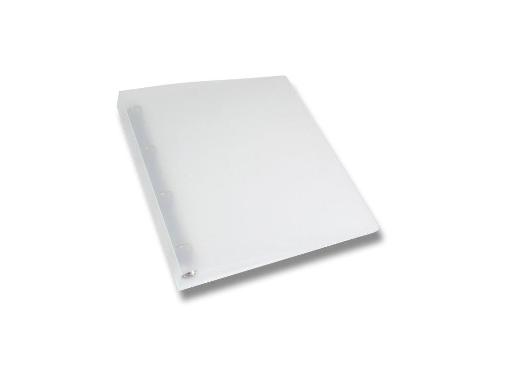 4kroužkový pořadač Opaline, A4, hřbet 35 mm, transparentní