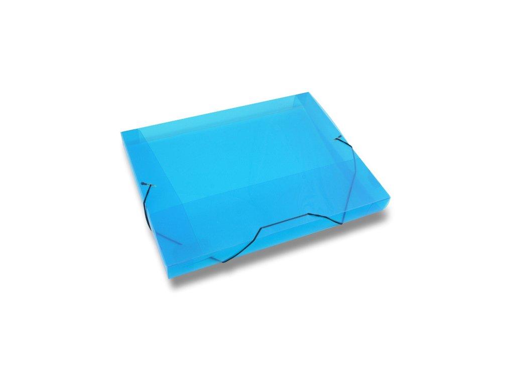 3chlopňové deskyTransparent, A4, hřbet 30 mm, modrá