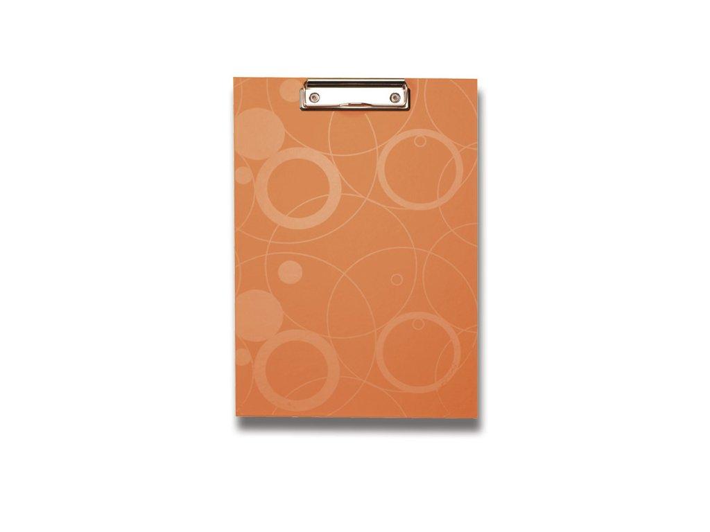 Psací podložka s klipem Neo Colori, A4, oranžová