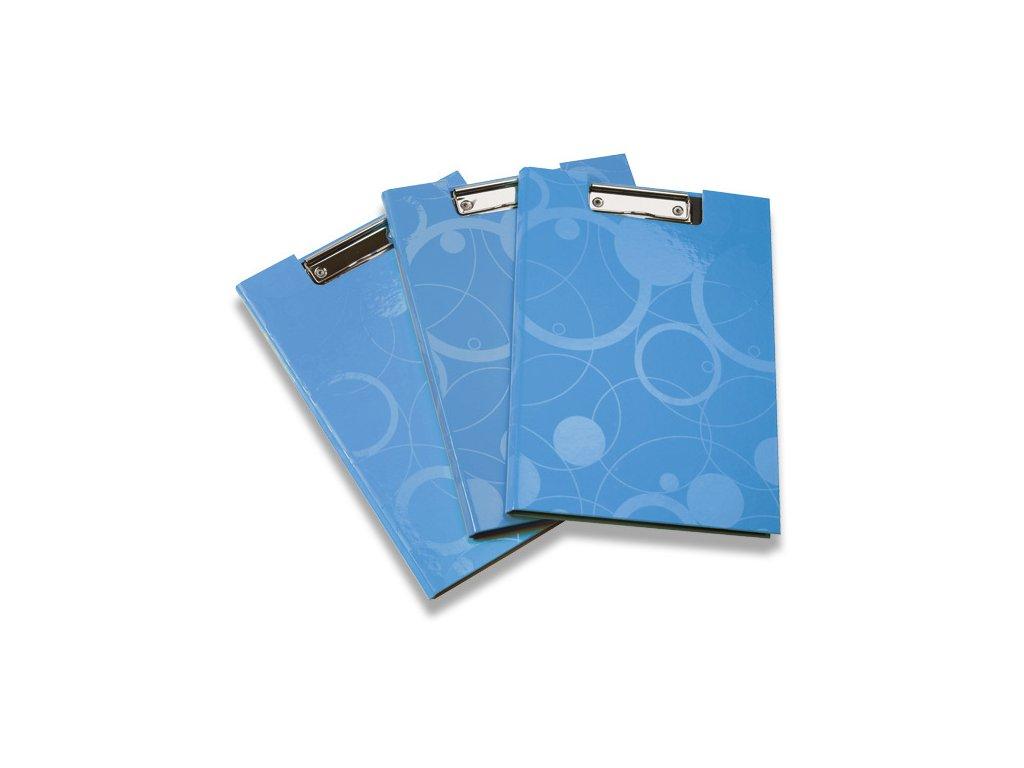 Psací podložka s klipem uzavíratelná Neo Colori, A4, modrá
