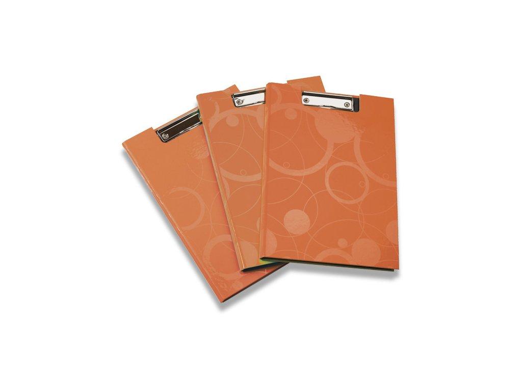 Psací podložka s klipem uzavíratelná Neo Colori, A4, oranžová