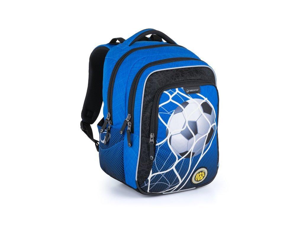 Klučičí školní batoh pro prvňáčky Bagmaster Lumi 21 B  + Dárek zdrama voskovky 8,2mm  K-I-H -12 barev