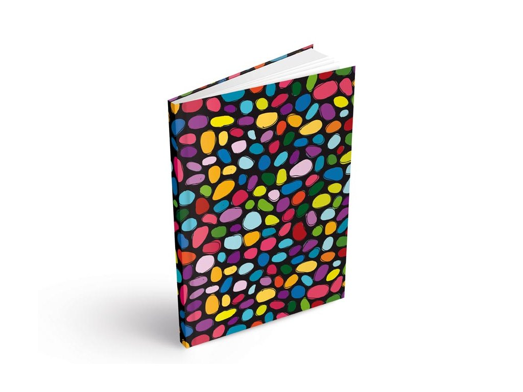 Záznamová kniha A5 MFP barevné puntíky 100 listů čtvereček