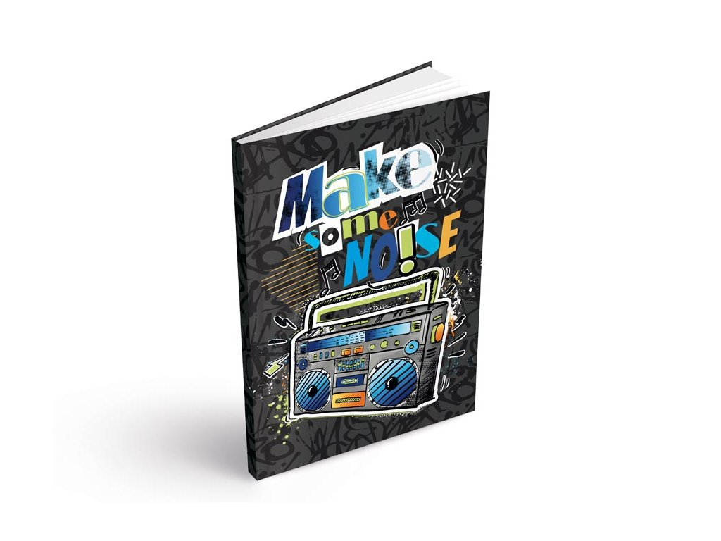 Záznamová kniha A5 MFP Make some noise 100 listů linkovaná