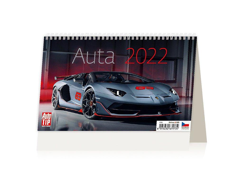 Kalendář Auta 2022