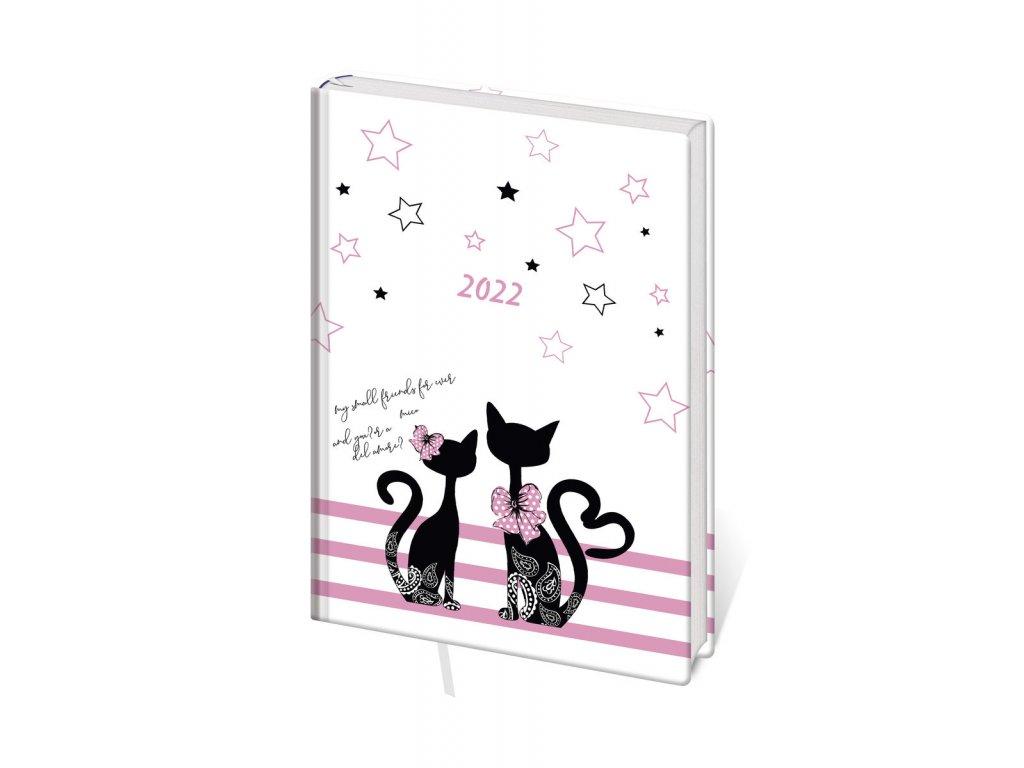 Diář Stil 2022 A7 Lyra týdenní - Cats