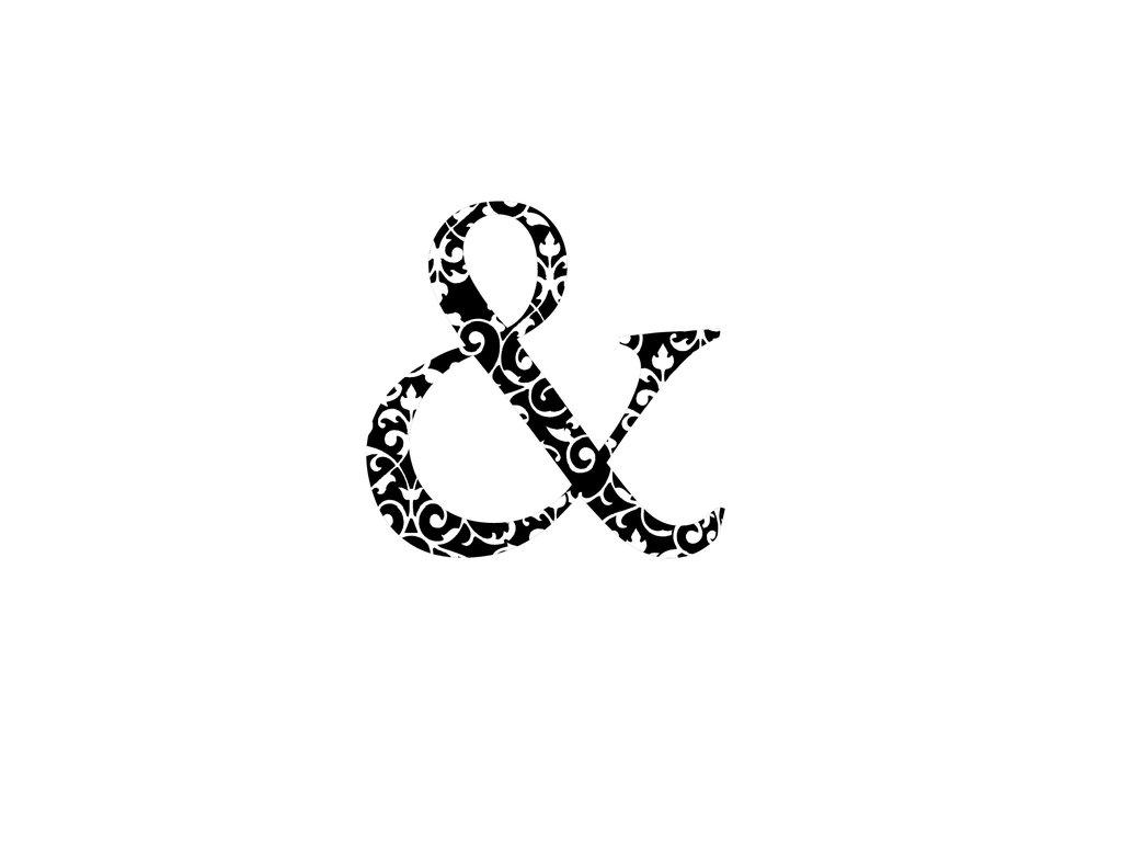 Dřevěné razítko, velikost F, ampersand