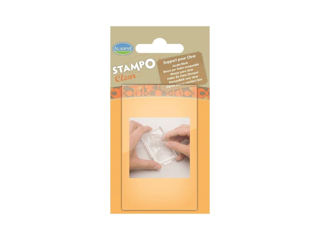 StampoClear, průhledný blok 5x7 cm