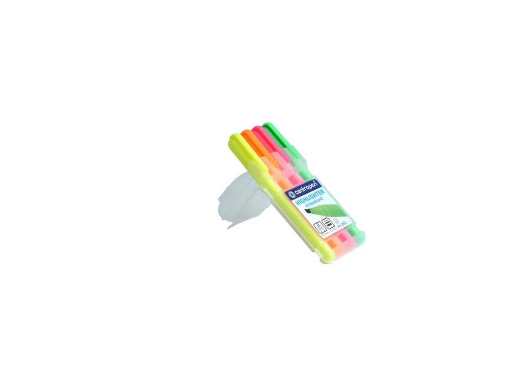 Zvýrazňovač  Centropen 2822 - mix barev