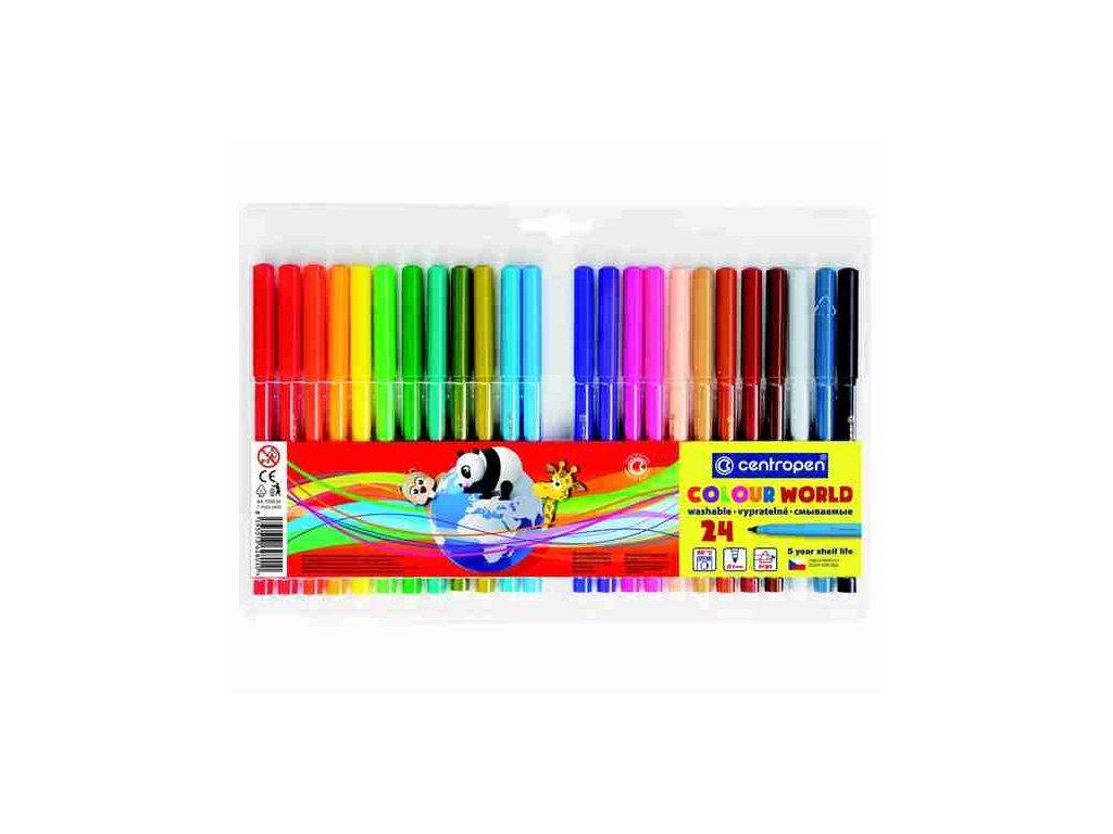 Dětské fixy Centropen Colour World 7550 sada 24 ks