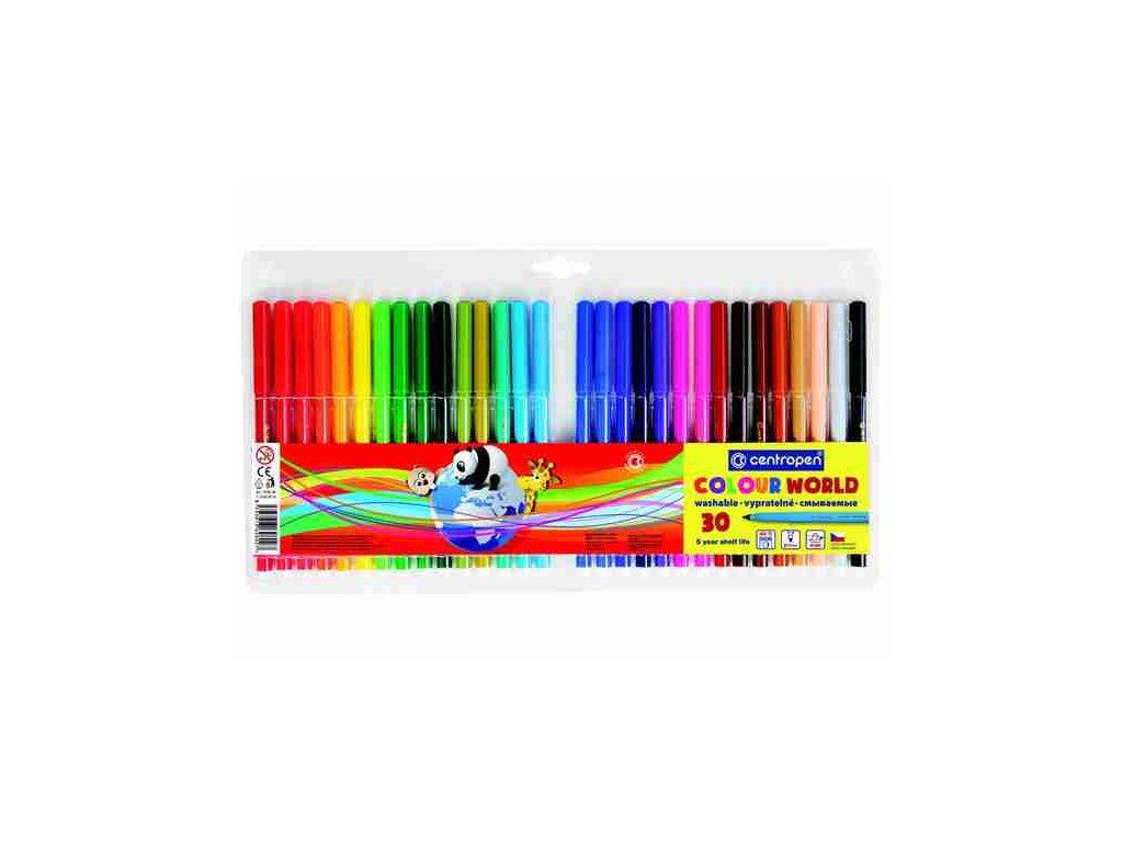 Dětské fixy Centropen Colour World 7550 sada 30 ks