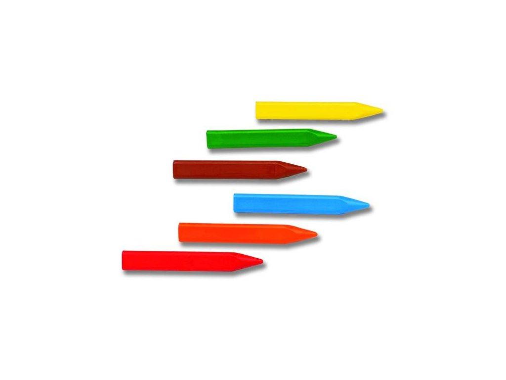 Jovi voskovky trojhranné 12ks  /82mm, průměr 11mm/, závěs