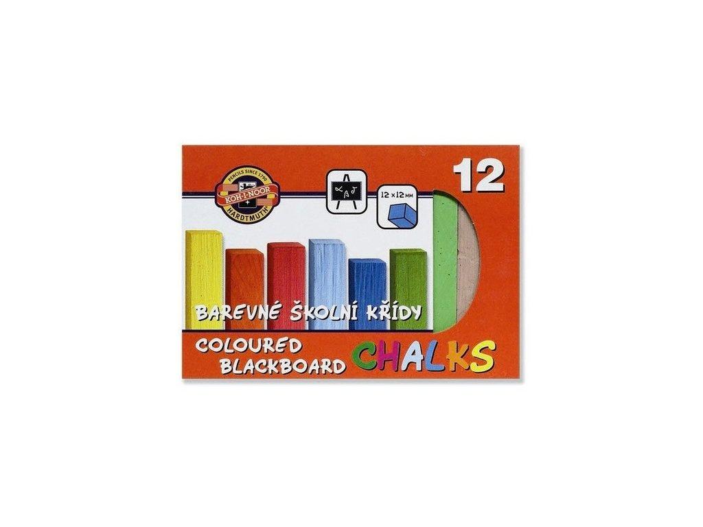 Křídy 112506/12 školní barevné