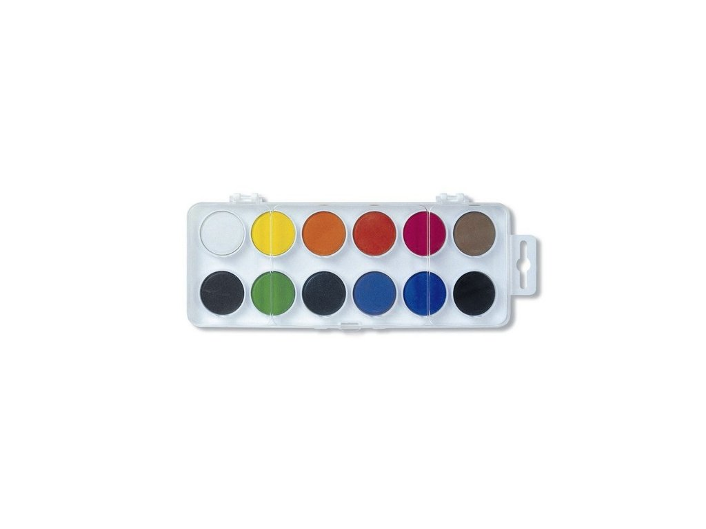 Vodové barvy 171510/12 - bílý barevník průměr 22,5 mm