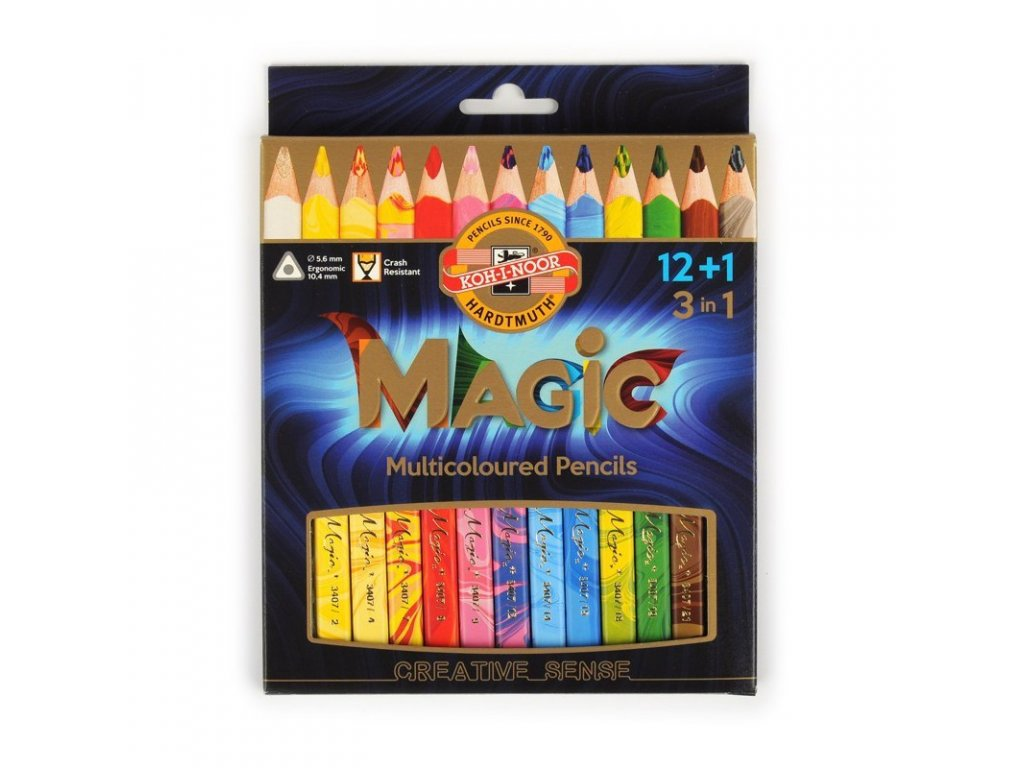 koh i noor 3408 souprava pastelek magic trojhranych 121 s