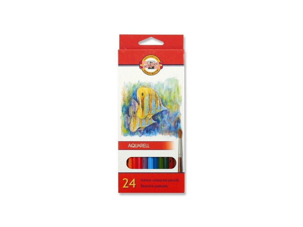 Pastelky 3718  akvarelové RYBY - 24 barev