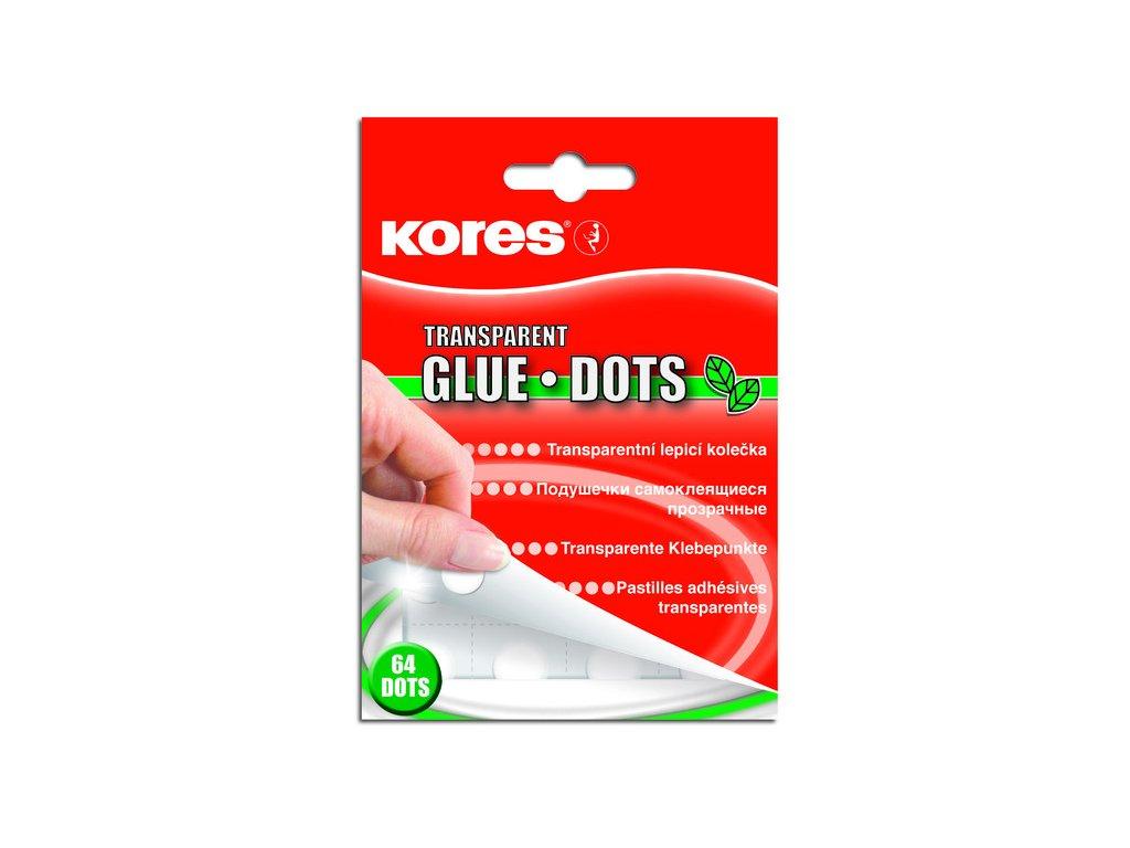 Permanentní lepící kolečka Kores - Glue Dots 64 ks