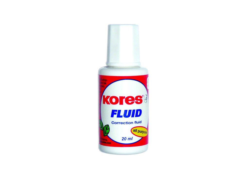 Opravný lak Kores Fluid 20 ml - se štětečkem
