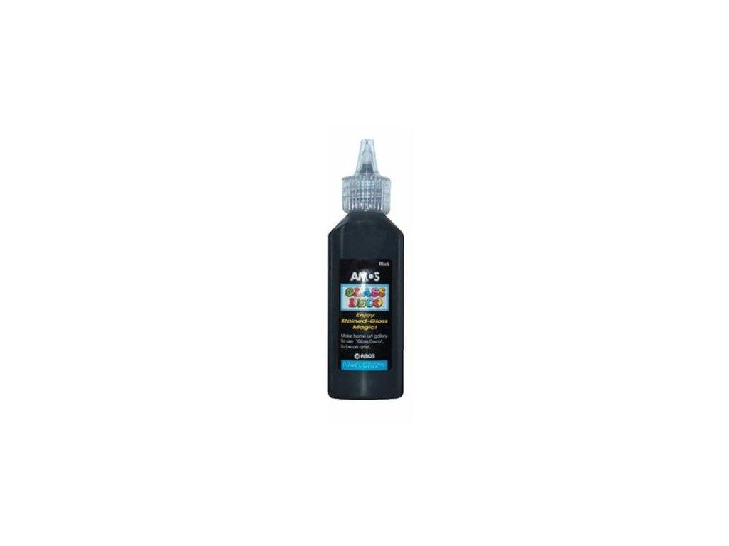 Slupovací barvy na sklo 22ml - černá kontura