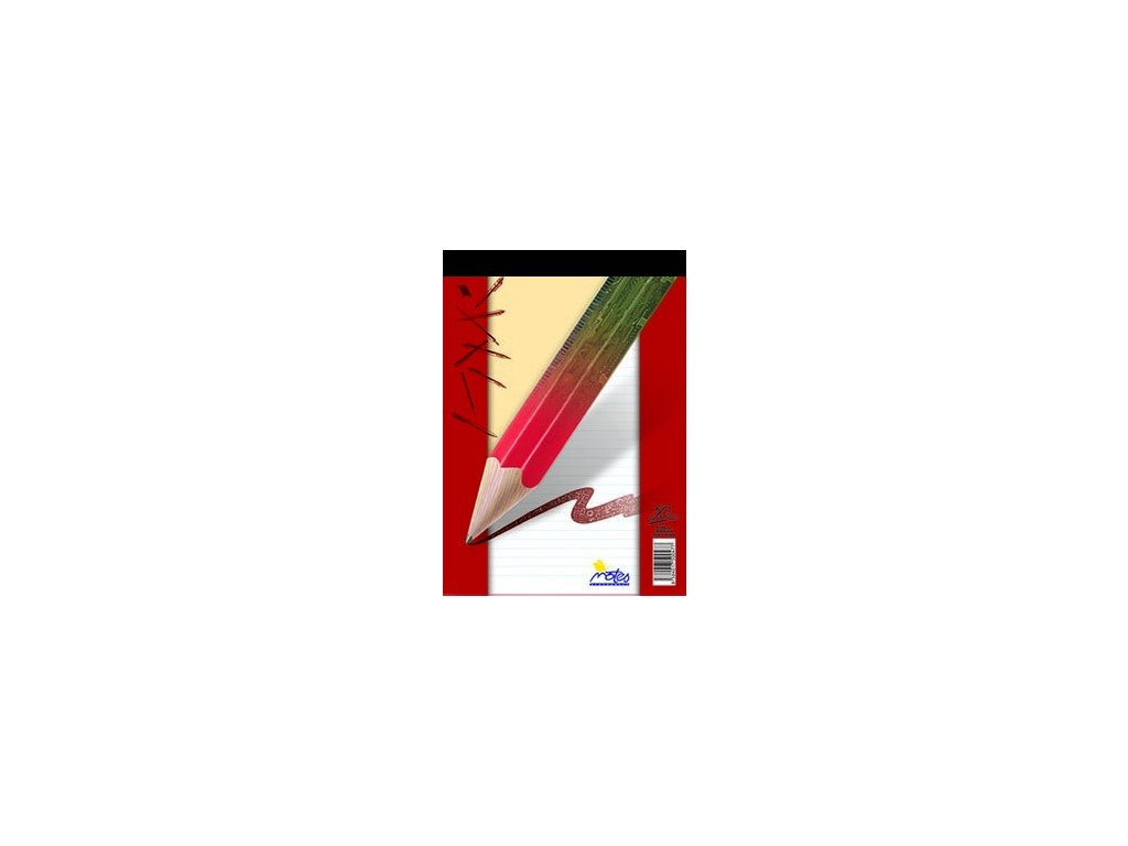 Blok šitý A7 Notes 50 listů - linkovaný