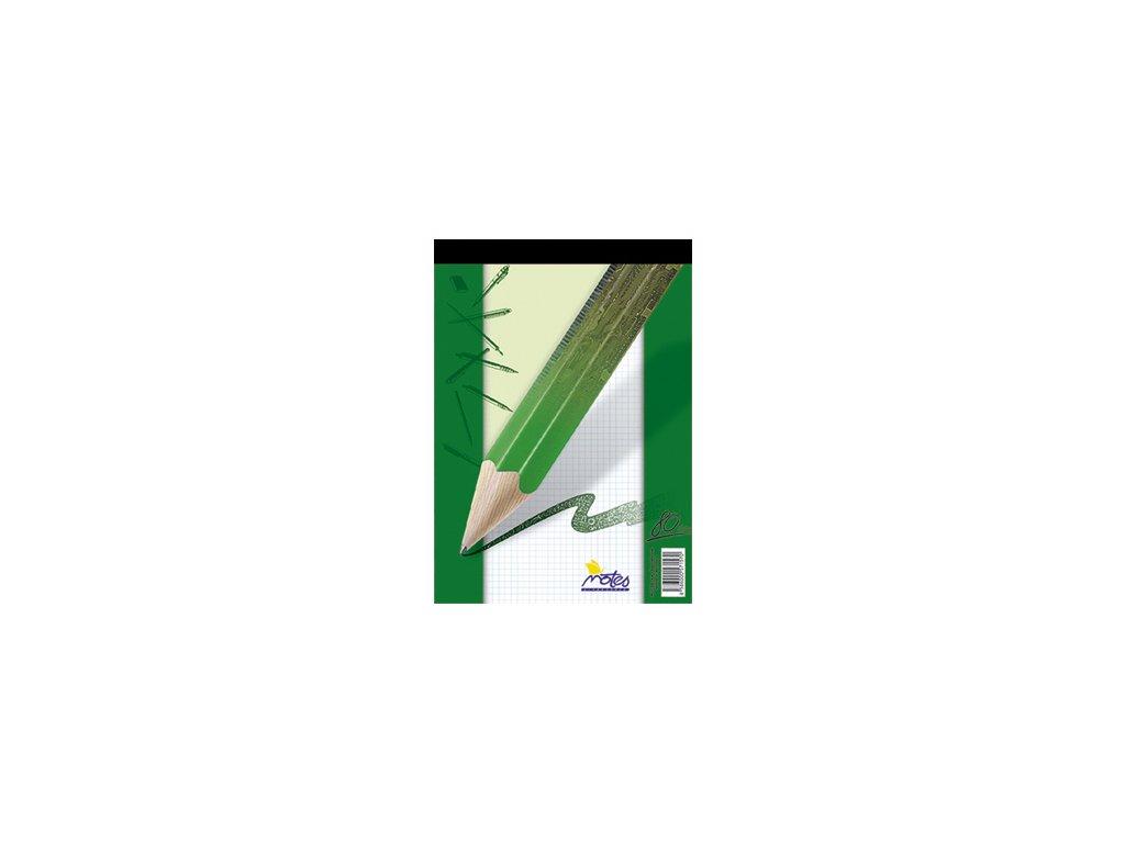 Blok šitý A6 Notes 80 listů - čtverečkovaný