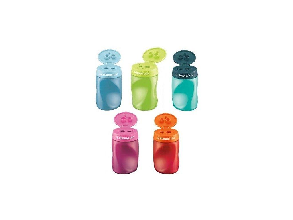 Ořezávátko se zásobníkem 3v1 STABILO EASY pro praváky - mix barev