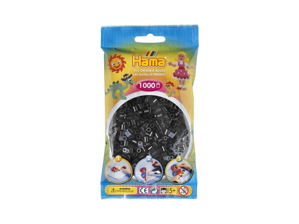 Zažehlovací korálky Hama H207-18 - Černé 1000 ks