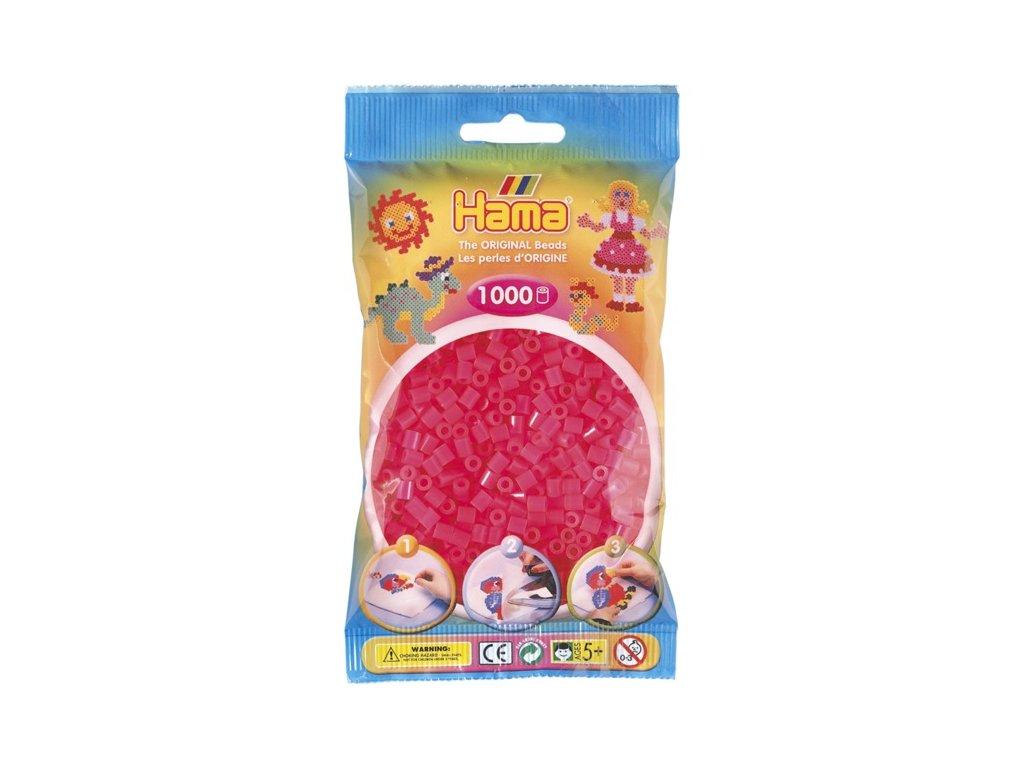 Zažehlovací korálky Hama -Neonové růžové