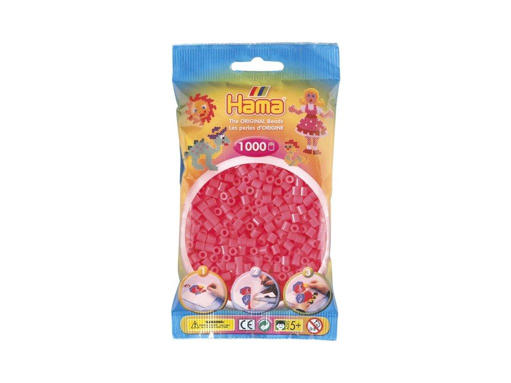 Zažehlovací korálky Hama - Neonové červené
