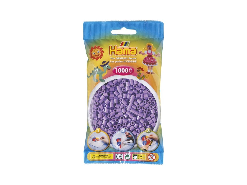 Zažehlovací korálky Hama 1000 ks - jednotlivé barvy