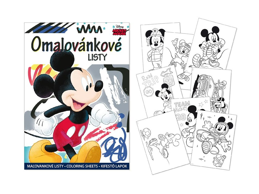 Omalovánky MFP A4 - Mickey