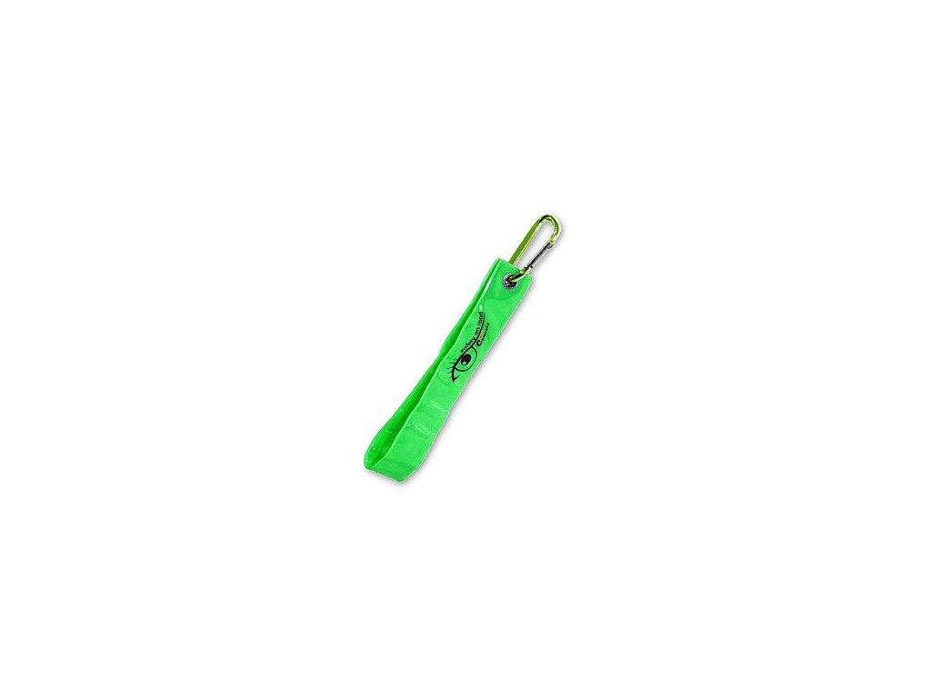 Reflexní přívěsek s karabinou - zelený