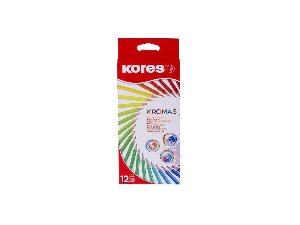 Trojhranné pastelky Kores Kromas - 12 barev