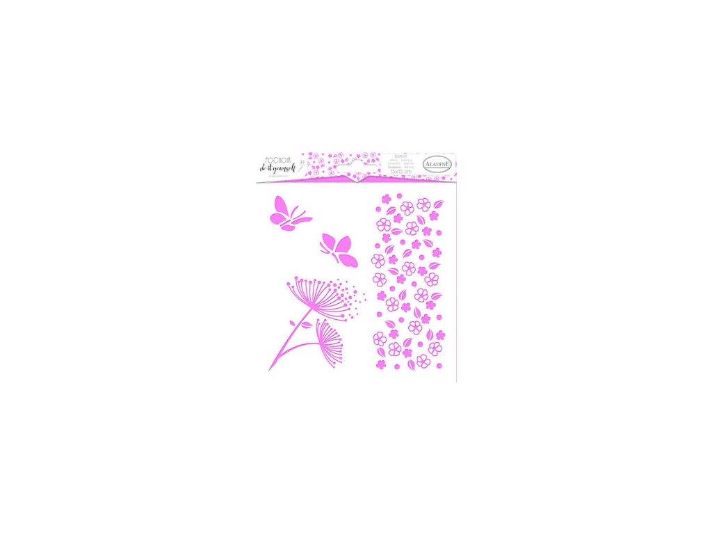 plastova sablona aladine kyticky 15x15 cm 87859 0