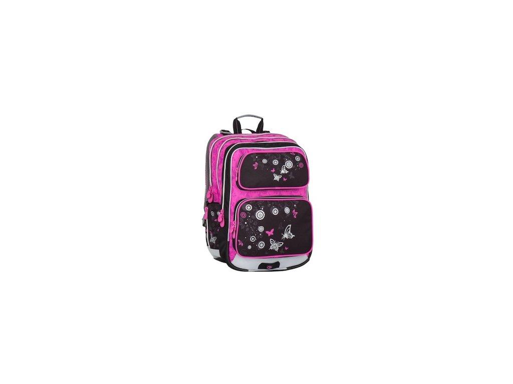 skolni batoh pro holky bagmaster galaxy 7 a black pink 87594 0