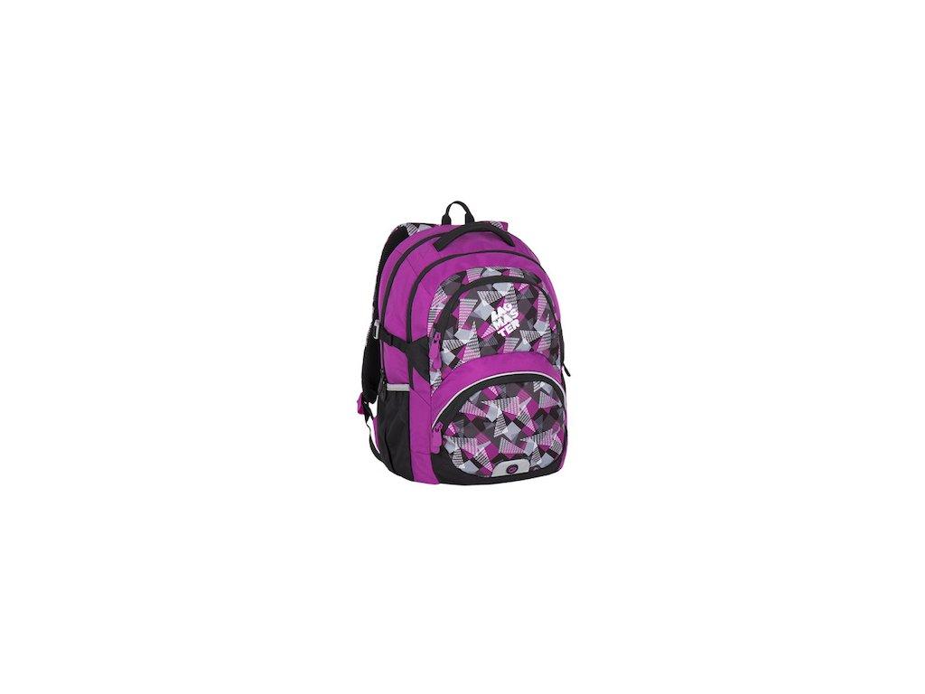346ce90c6a7 divci skolni batoh od 3 tridy bagmaster theory 7 a pink grey black 87604 0
