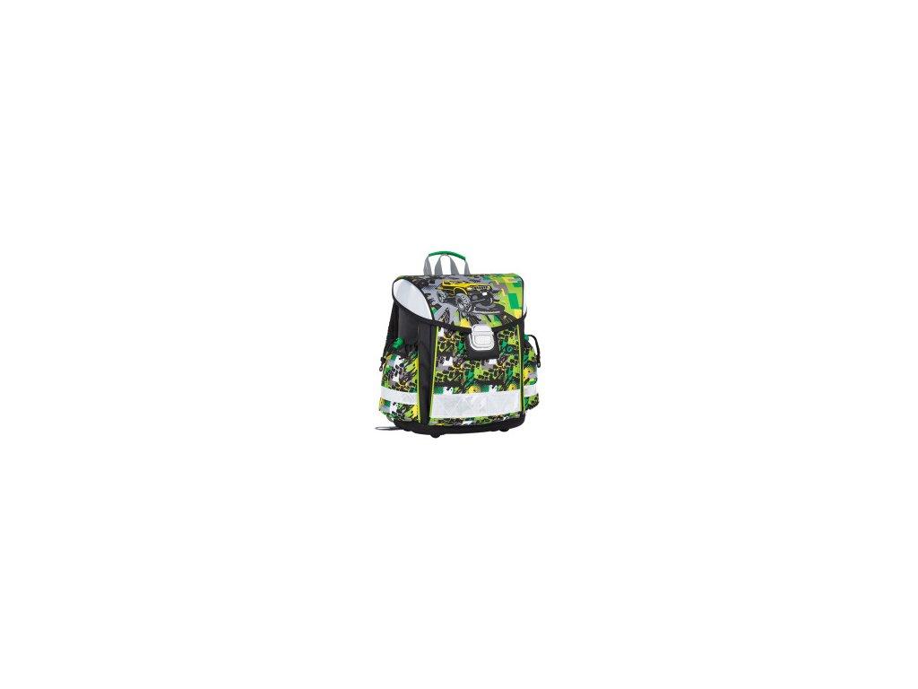 skolni aktovka pro kluky prvnacky bagmaster lim 7 d green yellow black 87601 0