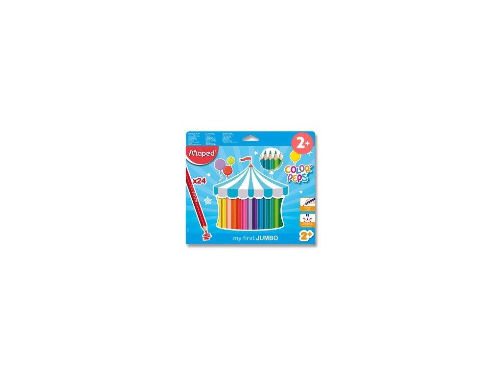 pastelky maped color peps jumbo 24 barev trojhranne 87743 0