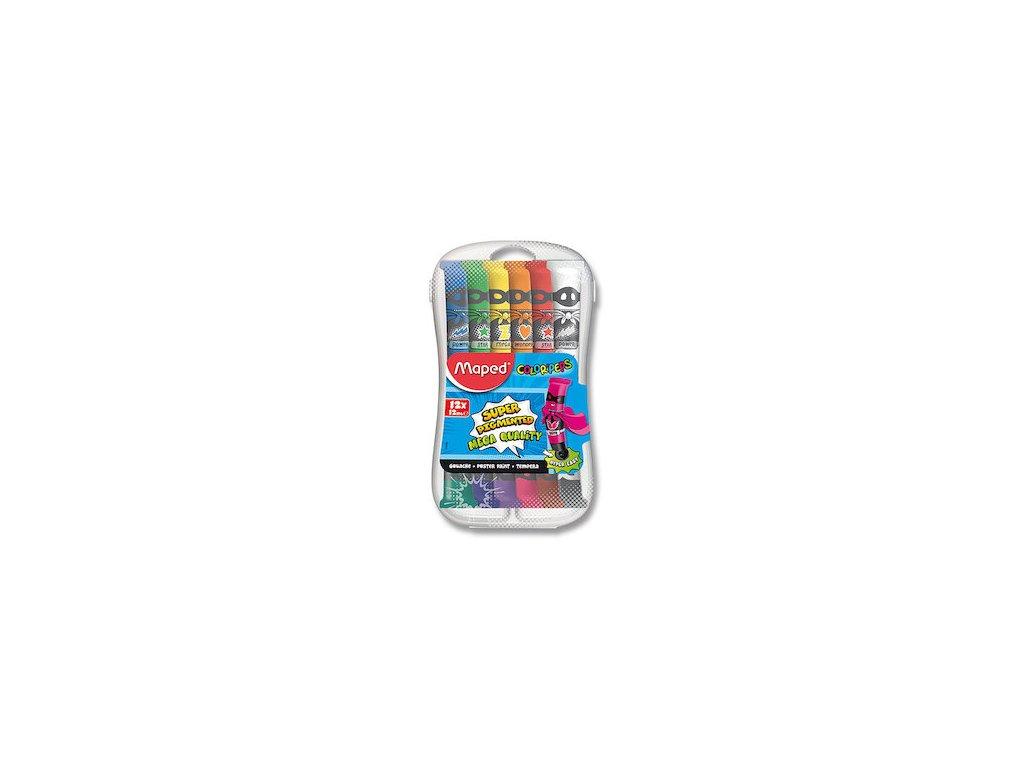 temperove barvy maped color peps 12 barev tuba 12 ml 87624 0