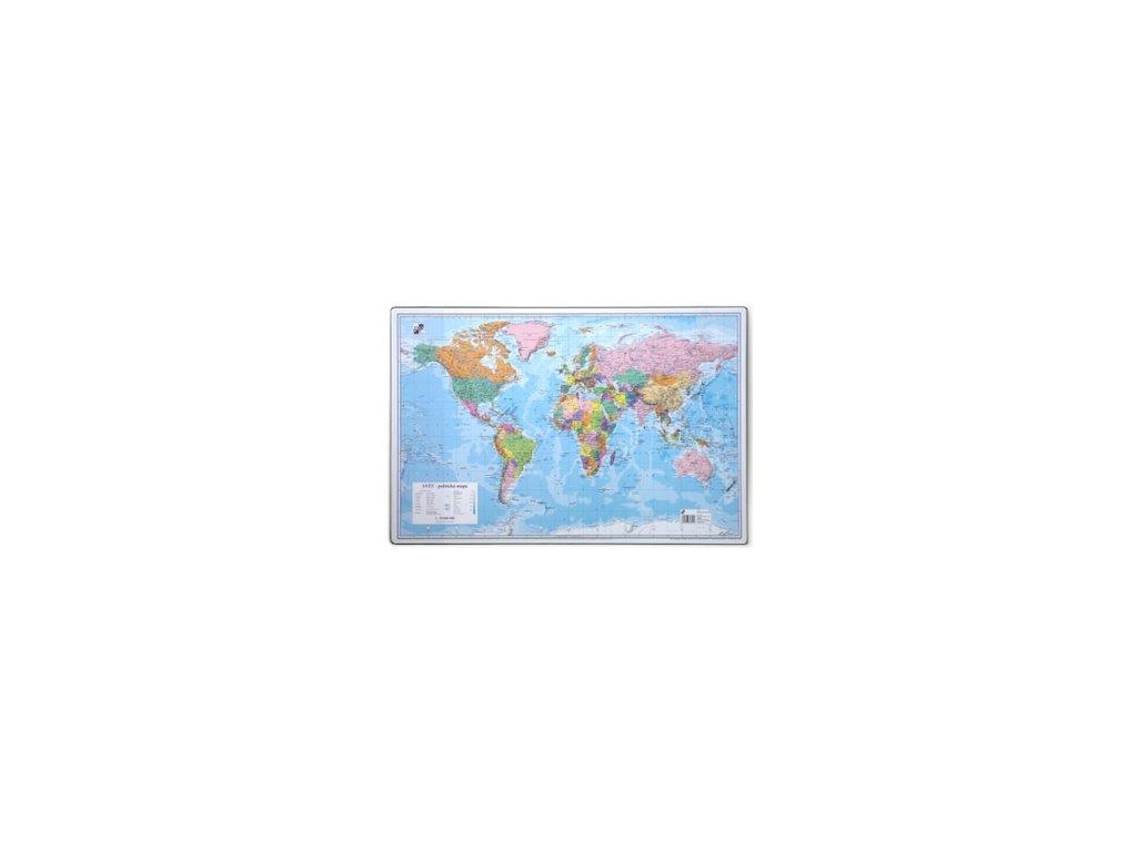 podlozka na stul karton p p 60 x 40cm svet politicka mapa 87868 0