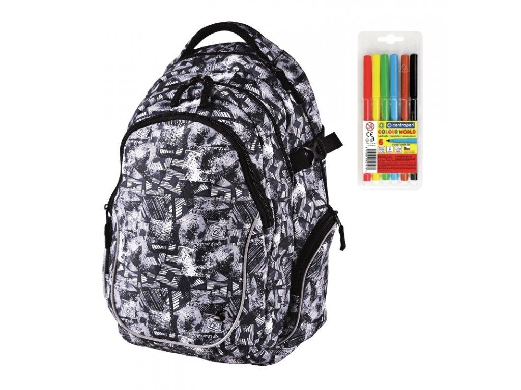 41838d48625 Školní batoh Stil teen Spirit + DÁREK ZDARMA - Fixy Centropen 6 barev