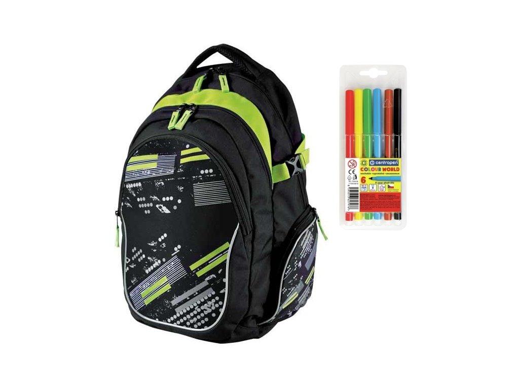 952fb62aaa8 Školní batoh Stil teen Subway + DÁREK ZDARMA - Fixy Centropen 6 barev
