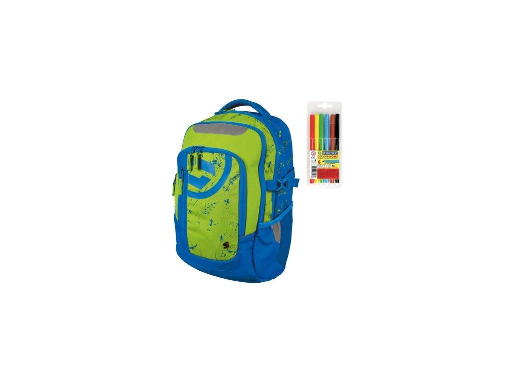 Školní batoh pro kluky Stil teen Energy + DÁREK ZDARMA - Fixy Centropen 6  barev e61b7bddf8