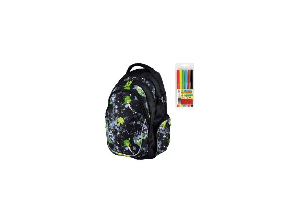 Školní batoh pro kluky Stil teen Space + DÁREK ZDARMA - Fixy Centropen 6  barev fa64cc36d4
