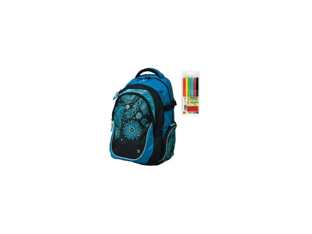 bc1e01bae62 Školní batoh pro holky Stil teen Harmony + DÁREK ZDARMA - Fixy Centropen 6  barev