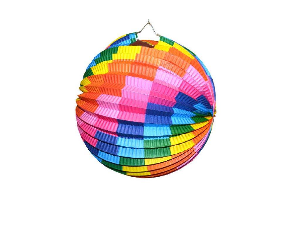 Dětský lampión Wiky - koule 25 cm barevný