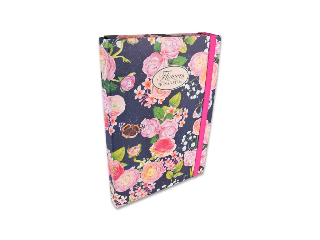 Box Pigna Nature Flowers - A4, hřbet 30 mm, mix motivů