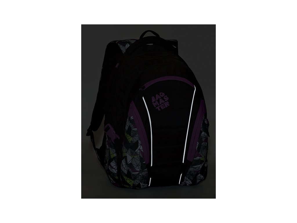 205c6012f8 Studentský batoh pro holky na notebook Bagmaster Bag 9 B + Doprava Zdarma a  Sada pravítek