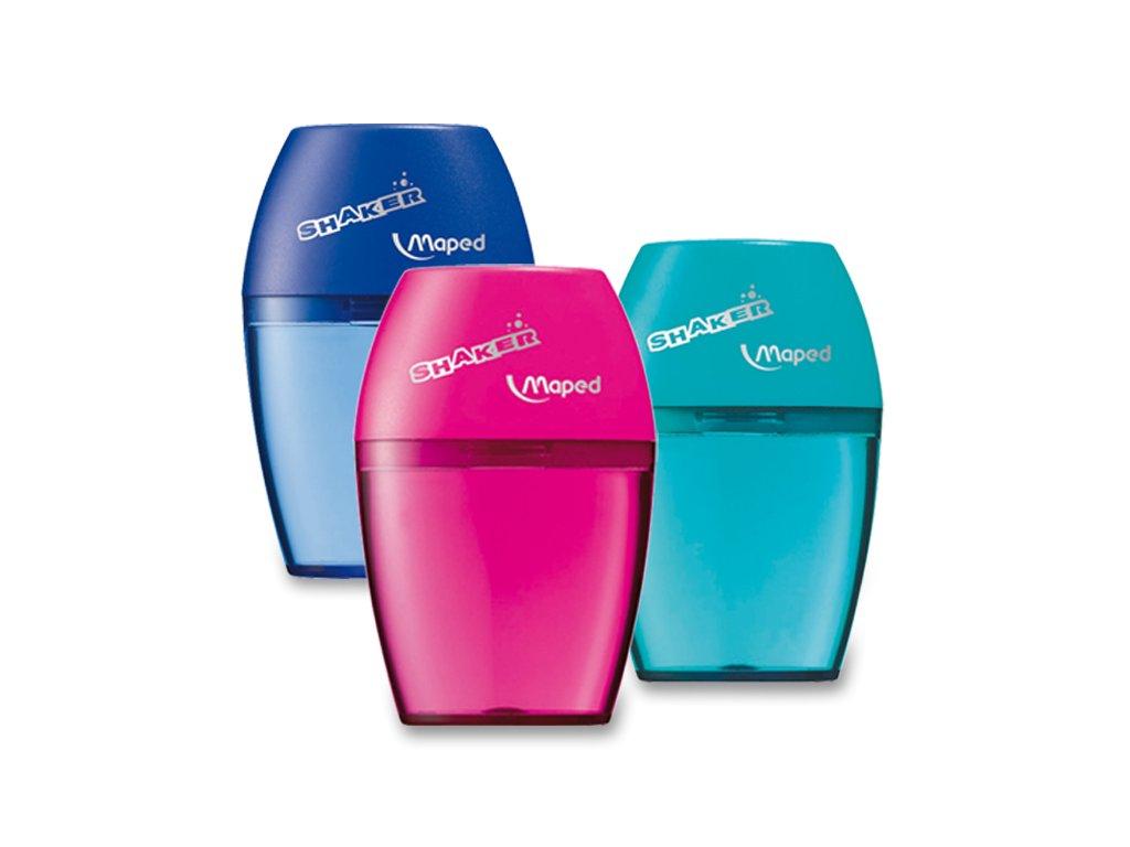 Ořezávátko Maped Shaker, s1 otvorem, blistr, mix barev