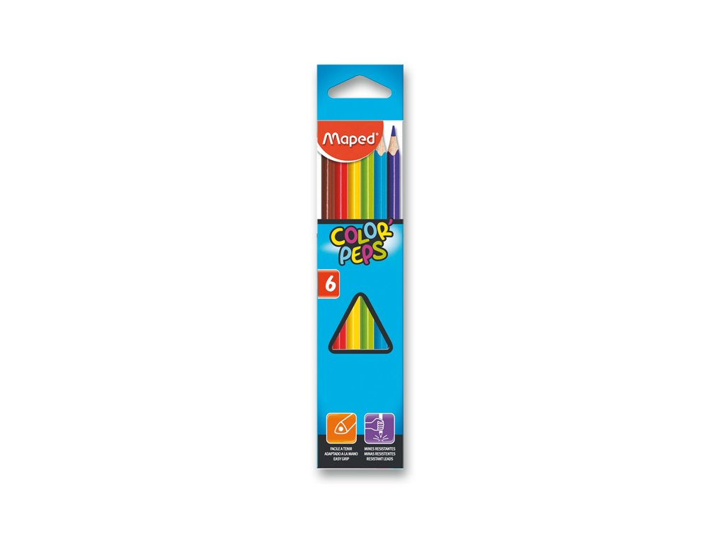 Pastelky Maped Color´Peps, 6 barev